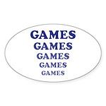 Amusement Park 'Games' Gamer Oval Sticker (10 pk)