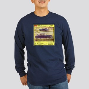 """1946 Chrysler Ad"" Long Sleeve Dark T-Shirt"