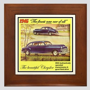 """""""1946 Chrysler Ad"""" Framed Tile"""