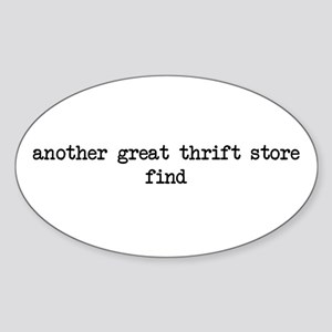 another great thrift store fi Oval Sticker