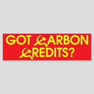 Got Carbon Credits? Bumper Sticker