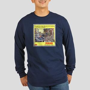 """""""1945 Packard Ad"""" Long Sleeve Dark T-Shirt"""