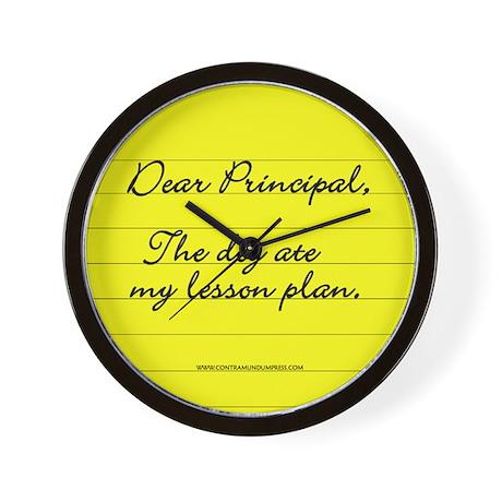Lesson Plan Wall Clock