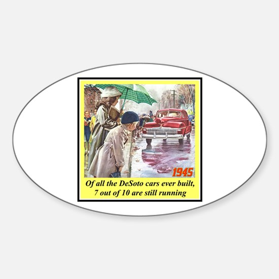 """1945 DeSoto Ad"" Oval Decal"