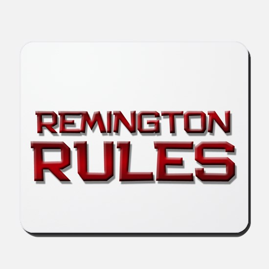 remington rules Mousepad