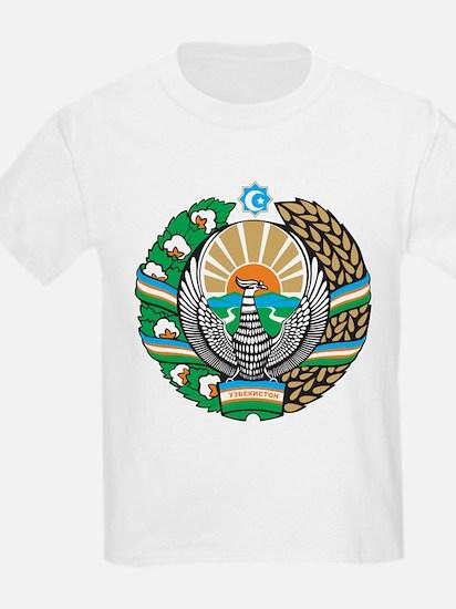 Uzbekistan Coat Of Arms Kids T-Shirt