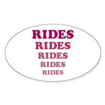 Amusement Park 'Rides' Rider Oval Sticker (10 pk)