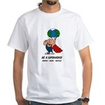 Earth Day Superhero White T-Shirt