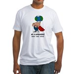 Earth Day Superhero Fitted T-Shirt