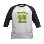 Being Green Rocks Kids Baseball Jersey