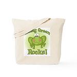 Being Green Rocks Tote Bag