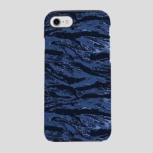 Blue Striped Camo iPhone 7 Tough Case