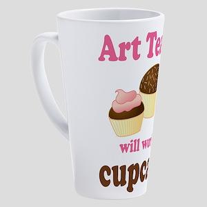 artteacher_cupcakes 17 oz Latte Mug