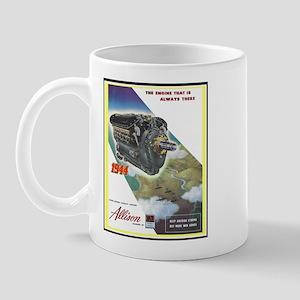 """""""WWII Allison Engines"""" Mug"""