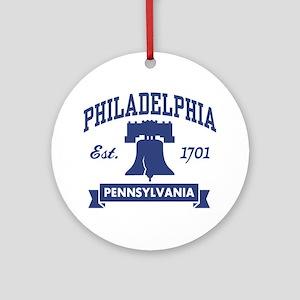 Philadelphia PA Ornament (Round)