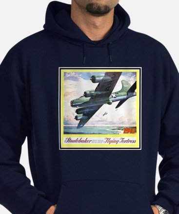 """""""Flying Fortress Engines Ad"""" Hoodie (dark)"""