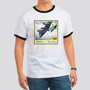"""Flying Fortress Engines Ad"" Ringer T"