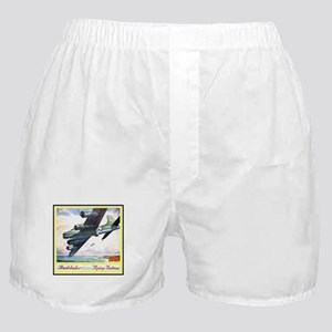 """""""Flying Fortress Engines Ad"""" Boxer Shorts"""