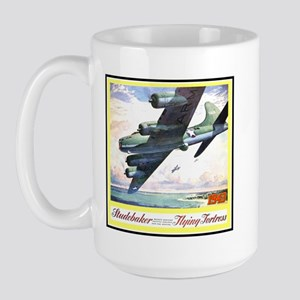 """""""Flying Fortress Engines Ad"""" Large Mug"""