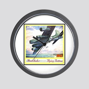"""""""Flying Fortress Engines Ad"""" Wall Clock"""
