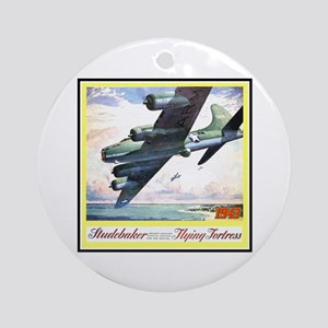 """Flying Fortress Engines Ad"" Ornament (Round)"