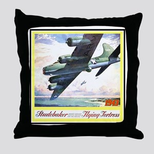 """Flying Fortress Engines Ad"" Throw Pillow"
