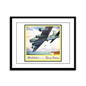 """""""Flying Fortress Engines Ad"""" Framed Panel Print"""