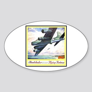 """""""Flying Fortress Engines Ad"""" Oval Sticker"""