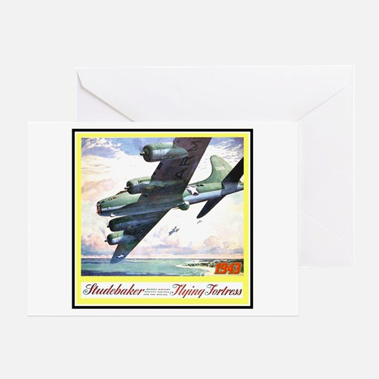 """Flying Fortress Engines Ad"" Greeting Card"