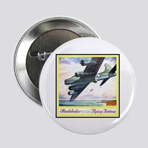 """Flying Fortress Engines Ad"" 2.25"" Button"
