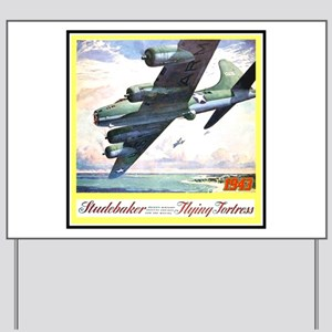 """""""Flying Fortress Engines Ad"""" Yard Sign"""