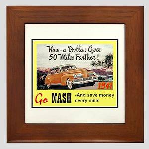 """""""1941 Nash Ad"""" Framed Tile"""