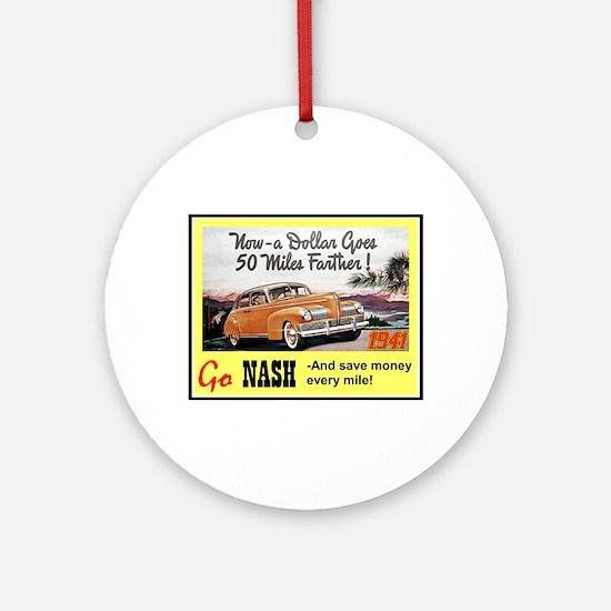 """""""1941 Nash Ad"""" Ornament (Round)"""