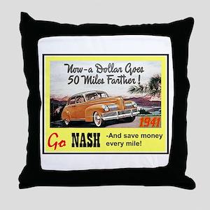 """1941 Nash Ad"" Throw Pillow"