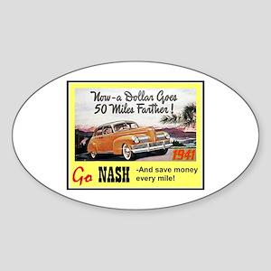 """1941 Nash Ad"" Oval Sticker"