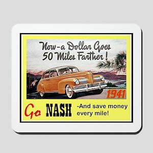 """""""1941 Nash Ad"""" Mousepad"""