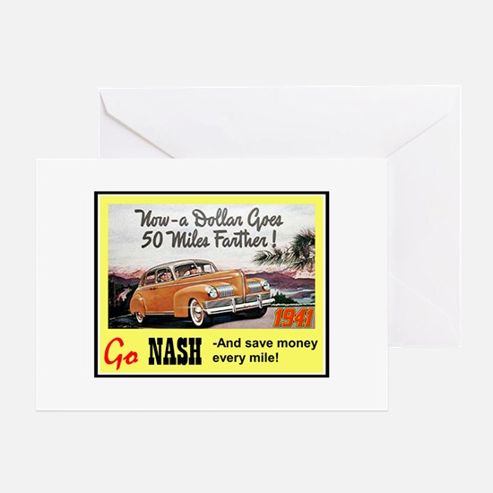 """1941 Nash Ad"" Greeting Card"