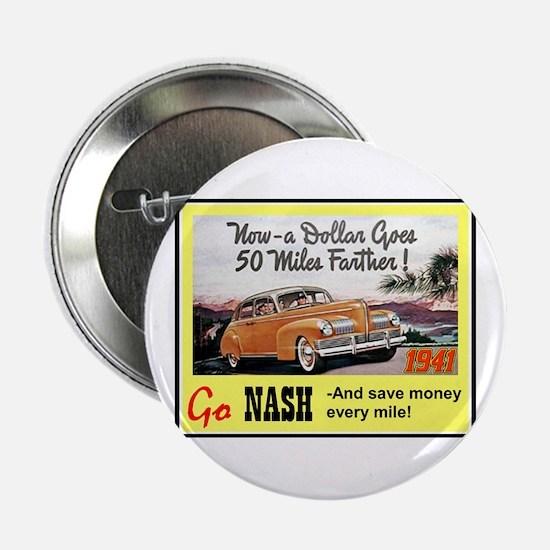 """""""1941 Nash Ad"""" 2.25"""" Button"""