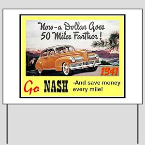 """1941 Nash Ad"" Yard Sign"