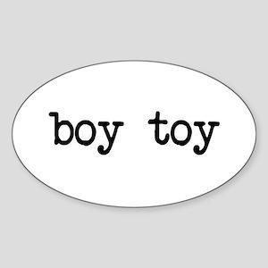 boy toy Oval Sticker