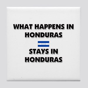 What Happens In HONDURAS Stays There Tile Coaster