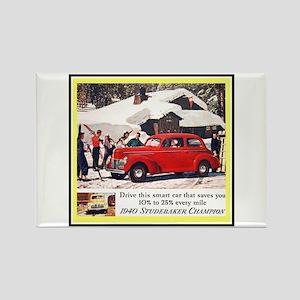 """""""1940 Studebaker Ad"""" Rectangle Magnet"""