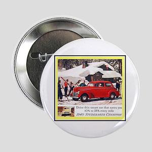 """1940 Studebaker Ad"" 2.25"" Button"