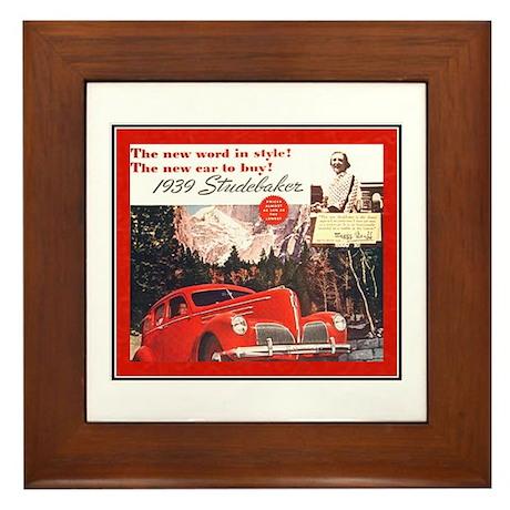 """""""1939 Studebaker Ad"""" Framed Tile"""