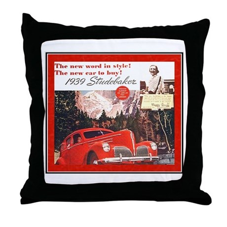 """1939 Studebaker Ad"" Throw Pillow"