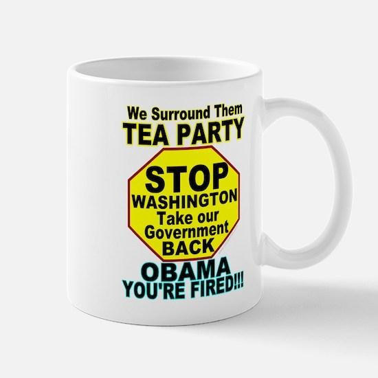 Tea Party Obama Fired Mug