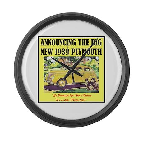 """1939 Plymouth Ad"" Large Wall Clock"
