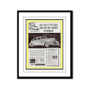 """""""1938 Hudson Ad"""" Framed Panel Print"""