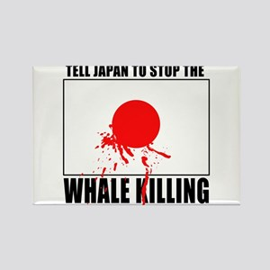 Japan Stop Whale Killing Rectangle Magnet