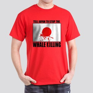 Japan Stop Whale Killing Dark T-Shirt